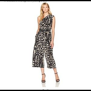 Tracy Reese One shoulder Silk jumpsuit NWT 1x 2x